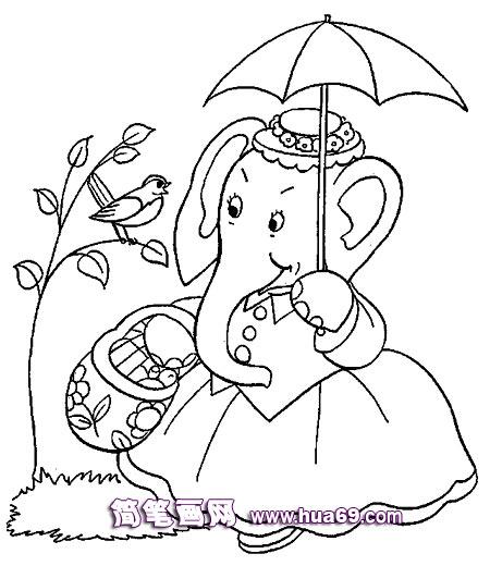 孩子和妈妈牵手简笔画
