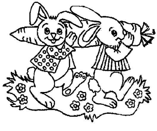 兔子吃萝卜简笔画2