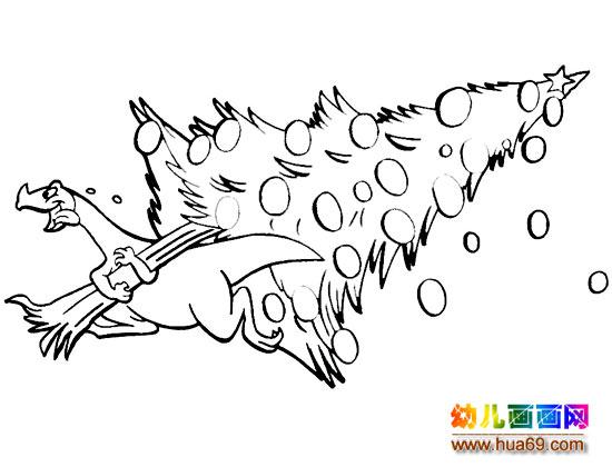 圣诞树大图简笔画 大黄牛简笔画 晒太阳的大螃蟹简笔画