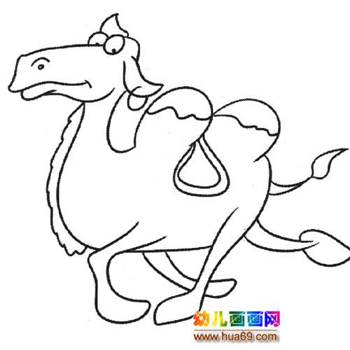 动物简笔画:奔跑的骆驼