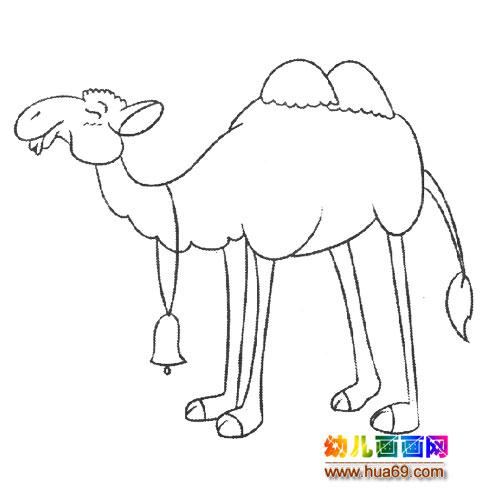 动物简笔画:戴铃铛的骆驼