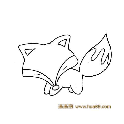 一只可爱的小狐狸简笔画5
