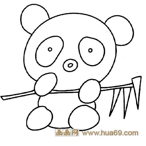 你如何画熊猫,吃竹子的熊猫简笔画画法 小鸭子儿童.