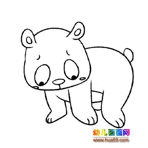 玩耍的小熊猫简笔画1,画画网