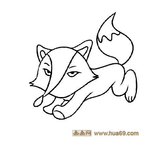 奔跑的小狐狸│动物简笔画
