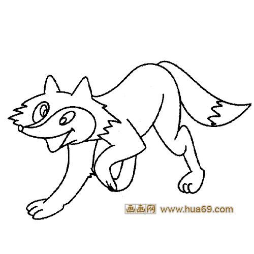 开心的小狐狸1│动物简笔画