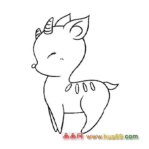 可爱梅花鹿│动物简笔画