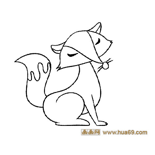 简笔画《狐狸》小猪佩琪