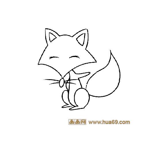 可爱的小狐狸动物简笔画