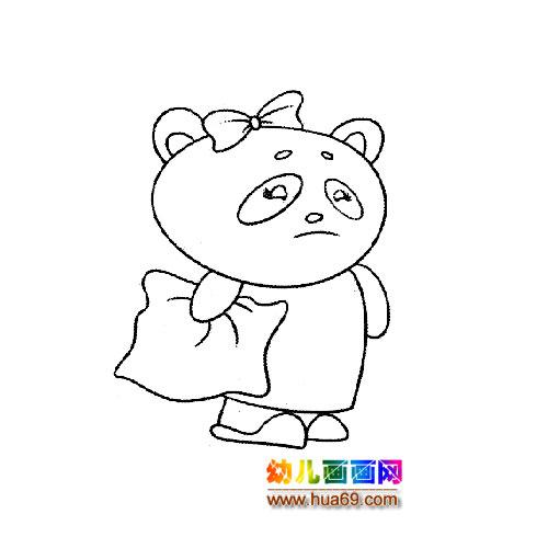 一只可爱的小熊猫简笔画