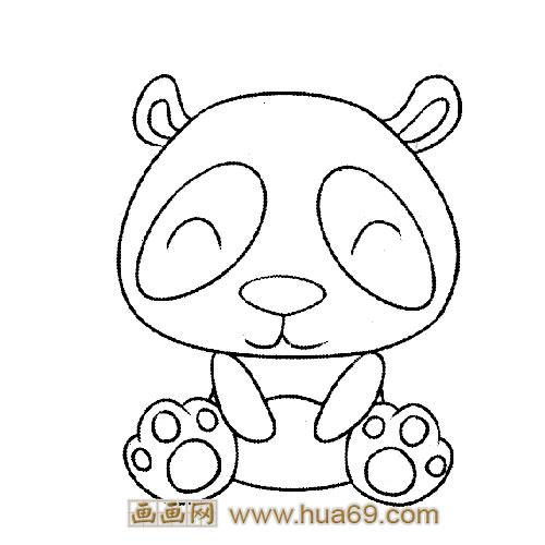 动物简笔画:乖巧的小熊猫