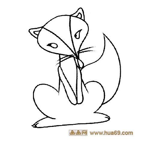 狡猾的狐狸是借着老虎的威风把百兽吓跑画的九尾狐最好能狡猾点和可爱