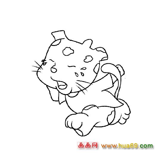 哭泣的小豹子(动物简笔画)图片