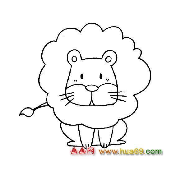 动物简笔画:可爱的小狮子图片-动物简笔画 可爱的小狗