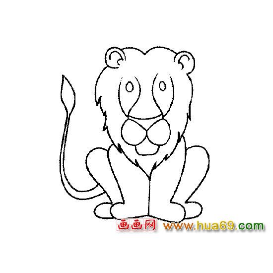 动物简笔画:卡通狮子2