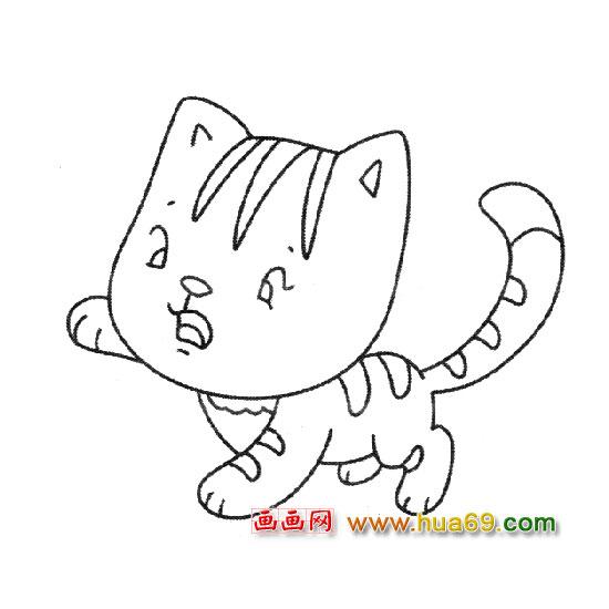 可爱卡通小猫简笔画