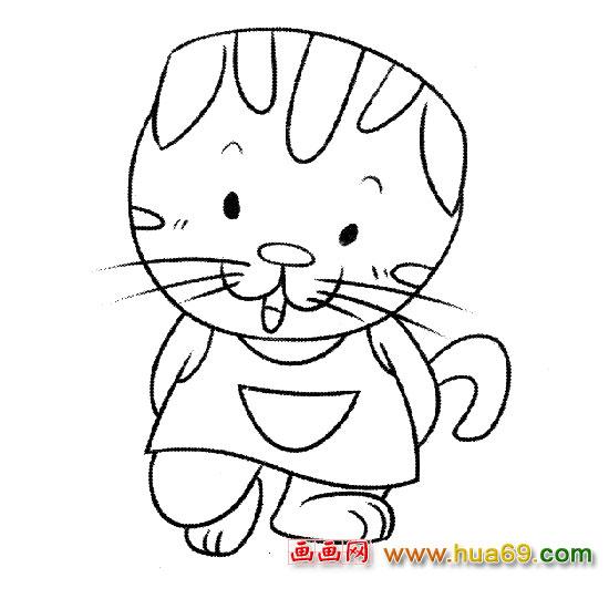 简笔画│卡通小猫4,画画网