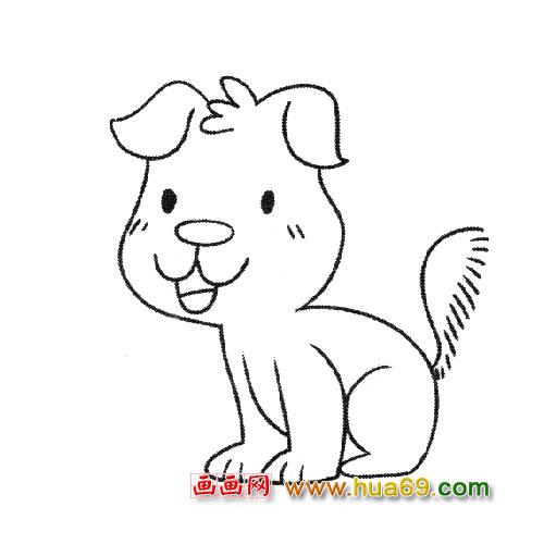 简笔画 小狗宝宝2