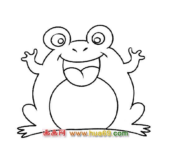 荷花图片手绘水彩笔画带有蝌蚪