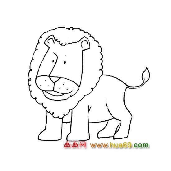 凶恶的狮子【简笔画】5,画画网