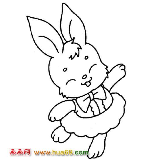 跳舞的小兔子【简笔画】