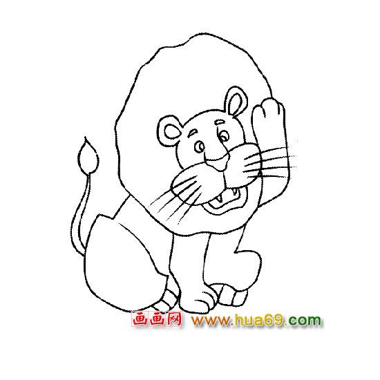 可爱的狮子(简笔画)4