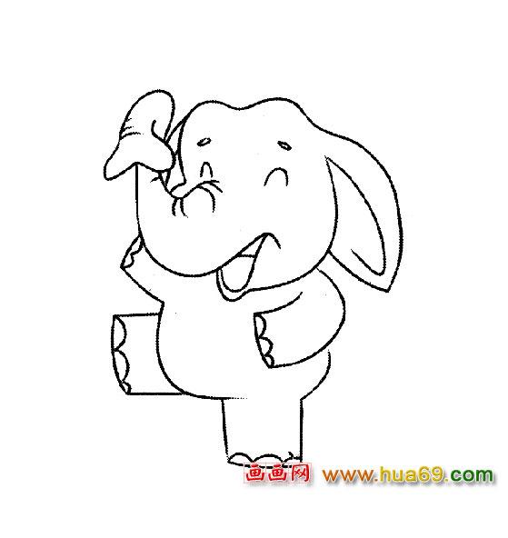 卡通简笔画(大象)3,画画网