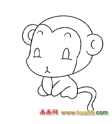 猴子过年简笔画内容图片展示_猴子过年简笔画图片下载