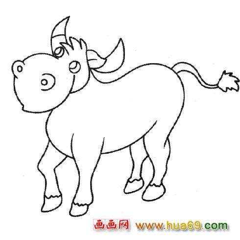 凶猛的牛 儿童简笔画