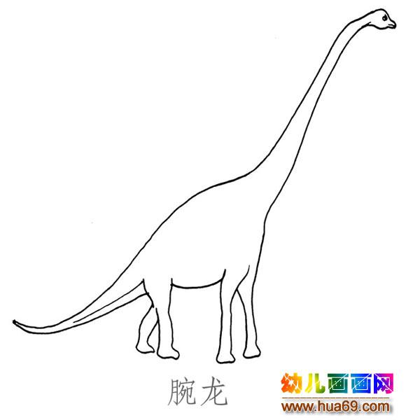 儿童简笔画图片:高大的腕龙
