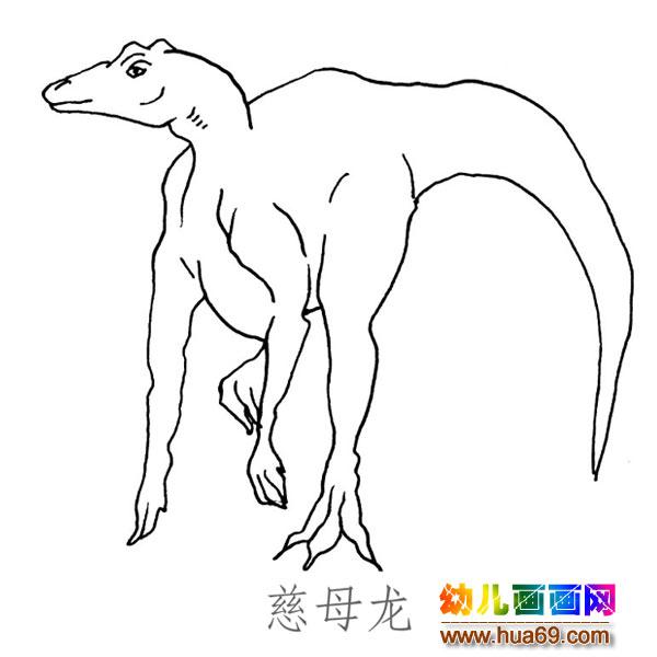 儿童简笔画图片 大尾巴的慈母龙