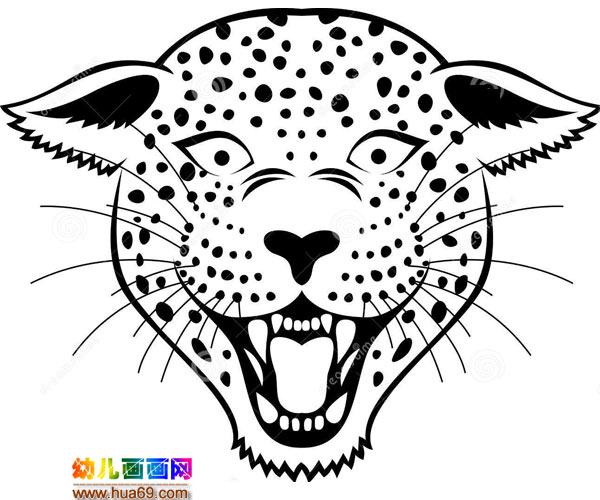 可怕的豹子头_儿童简笔画图片