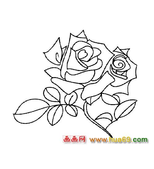 花卉简笔画 一朵玫瑰4