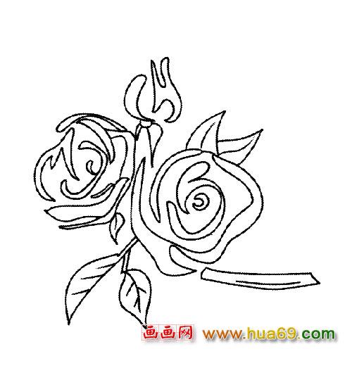 花卉简笔画 一朵玫瑰3