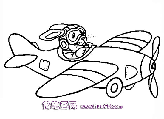 小飞机简笔画,画画网