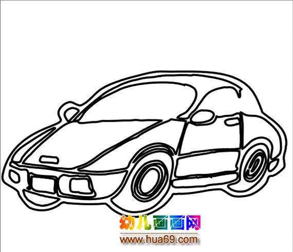 小汽车简笔画1,画画网