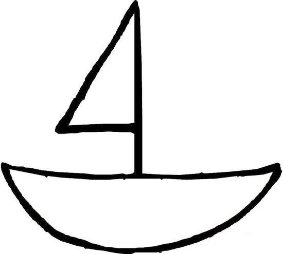 简单的帆船的简笔画