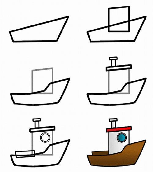 小船簡筆畫的畫法,畫畫網