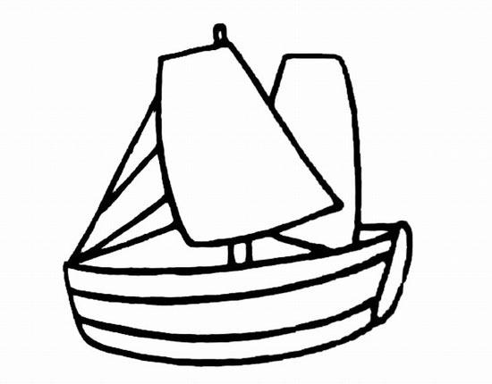 小帆船的简笔画3图片