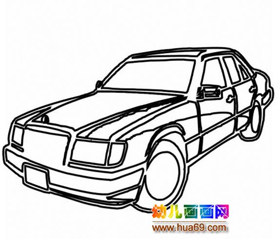 桑塔纳小汽车简笔画3高清图片