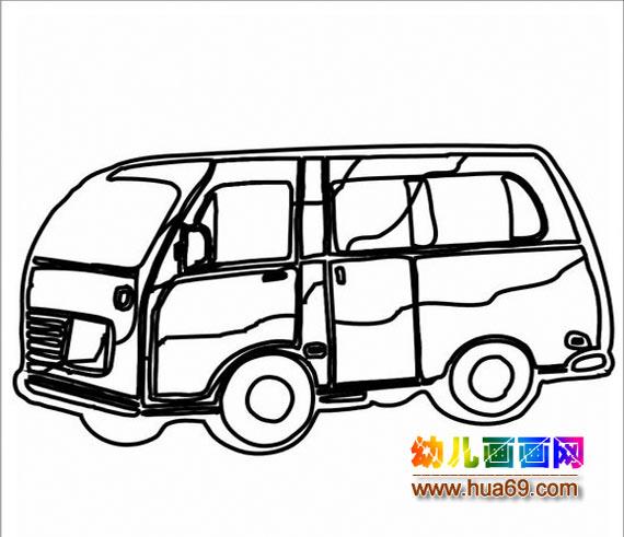 各种汽车简笔画彩色