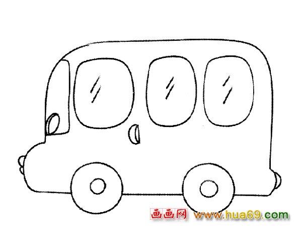 怎么画汽车简笔画图片_汽车怎么画简单画图片图片