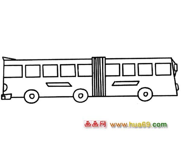 汽车简笔画_公共汽车简笔画大全_公共汽车卡通图片