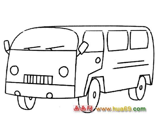 交通工具简笔画 小型公交车1