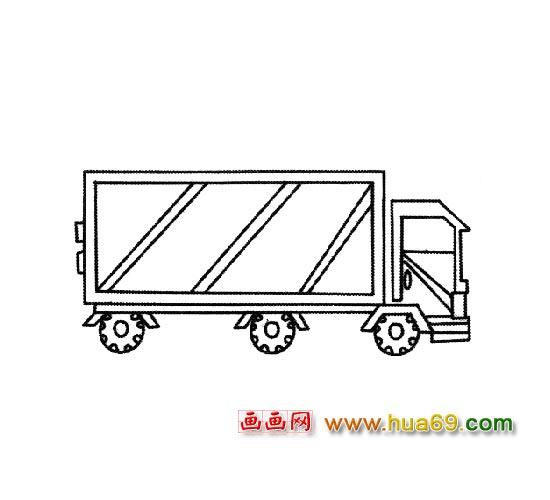 交通工具简笔画 大型卡车