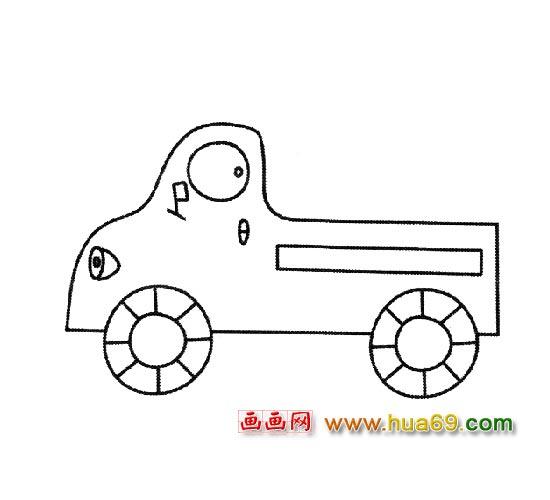 交通工具简笔画 小型卡车1
