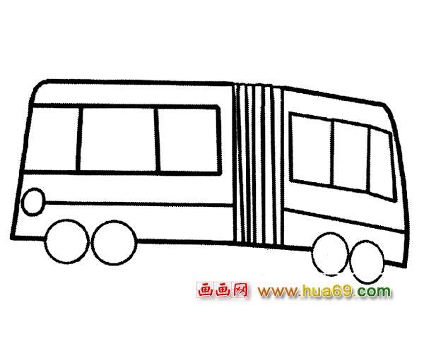 交通工具简笔画 老式公交车5