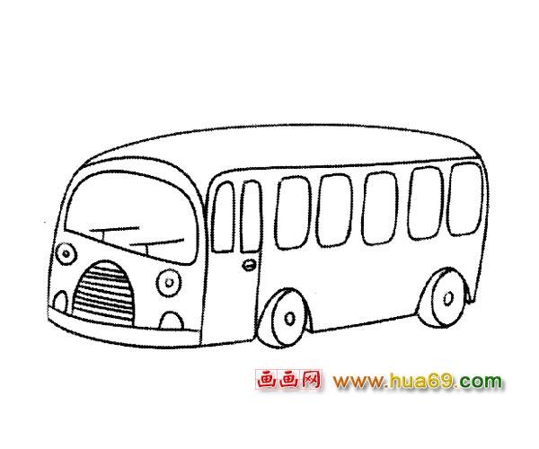 交通工具简笔画 现代公交车2