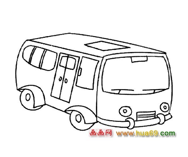 交通工具简笔画 现代公交车4