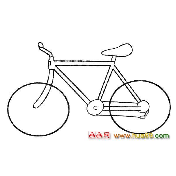 简笔画:简单自行车1